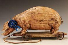 American Chestnut Carvings :: Blue Ribbon :: Peter Bretz Americana Carvings