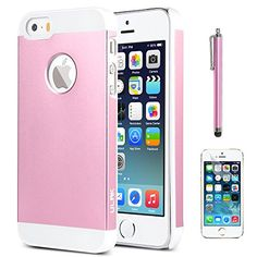iPhone 5S Case, ULAK Armor Case for iPhone 5/5S 5G Slim Fit Aluminum +PC Hard Cover Protective Case with Screen Protector and Stylus (Pink) ULAK http://www.amazon.com/dp/B00O0F0ATM/ref=cm_sw_r_pi_dp_XTW0ub14FSXT8