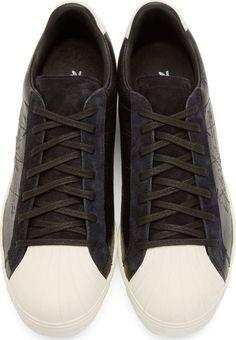 Yohji Yamamoto Black adidas by Yohji Yamamoto Superstar Metallic Sneakers