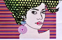 Ritratto #pop art vota quest'opera allo stand #auronia a #parafashion di #paratissma10 dal 5 al 9 novembre 2014 ---- #popart portrait collage and drawing vote this art vork at #parafashion of #paratissima
