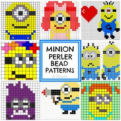 "We are a ""minion-lovin'"" family and so when my kids asked me to get them some Minion perler bead patterns the other day I found these ADORABLE one and I had to share! I Love Minions Perler Bead Patter"