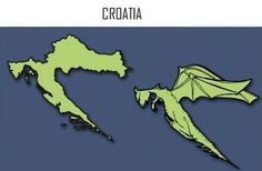 Today is Croatia's turn to surprise us with its dragon flames. #croatia #europe #fun #funnyimages #caricature #cartoon