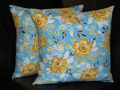 Turquoise & Yellow Pillows!