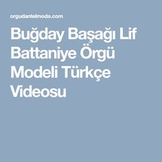 Buğday Başağı Lif Battaniye Örgü Modeli Türkçe Videosu
