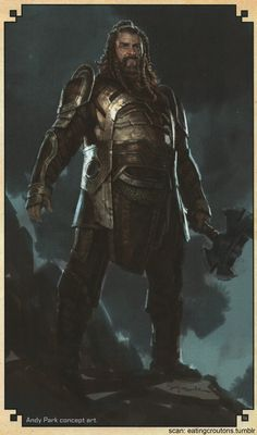Volstagg - Character concept art from Thor: The Dark World - The Art of the Movie