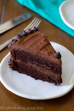 triple chocolate layer cake.