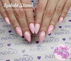 Maybe Baby Gel Brush by Izabela Stanek Indigo Young Team #nails #nail #pink #powder #mermaid #effect #syrenka #pastel