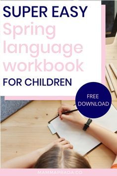 Free workbook printables for children can make life much easier when you're busy! This language workbook for kids is free to download and print as you please!