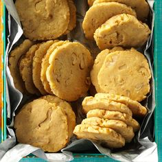 Black Walnut Cookies Recipe -These are the first cookies I learned to bake. Grandmother and I made them for the holidays when I was a child. Hulling and shelling those nuts was a difficult and time-consuming job for Grandma. Our whole family enjoyed these yummy cookies even more knowing how much love she put into making them.—Doug Black, Conover, North Carolina