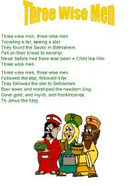 """Three Wise Men"" song to the tune of ""Three Blind Mice"""