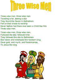 Three Wise men song for preschool