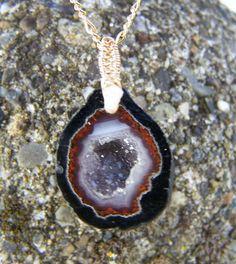 Geode Druzy  14k goldfilled wire wrap Diamond druzy by JPGemJewels, $189.00