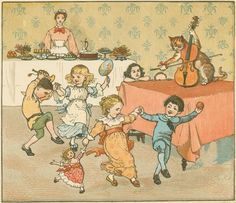 'Cat with a Fiddle' by Randolph Caldecott.