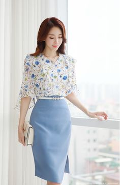 Korean Women`s Fashion Shopping Mall, Styleonme. Asian Fashion, Girl Fashion, Fashion Dresses, Moda Chic, Elegant Outfit, Business Outfits, Womens Fashion For Work, Dress To Impress, Cute Outfits