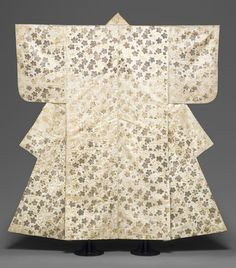 Noh costume (surihaku) with Chinese bellflowers [Japan] (32.30.5) | gold and silver leaf on silk | The Metropolitan Museum of Art