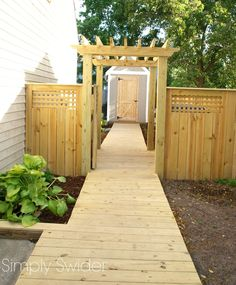 Give your summer some fun with these great outdoor projects for your yard and deck Garden Steps, Backyard Paradise, Outdoor Retreat, Garden Buildings, Wooden Garden, Outdoor Projects, Outdoor Gardens, Outdoor Living, Arbors