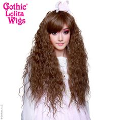 Would be great Hermione hair if teased out. Kawaii Hairstyles, Wig Hairstyles, Costume Wigs, Cosplay Wigs, Hermione Hair, Natural Wigs, Anime Wigs, Wig Party, Long Curls