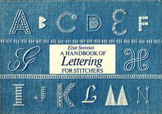cross-stitch lettering