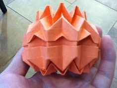 Halloween Pumpkin origami  made by Sooyoung