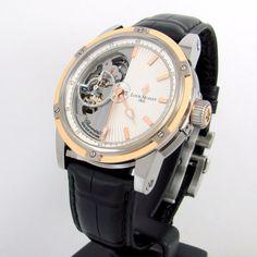 New LOUIS MOINET Mecanograph LM-31.40.65 Titanium Gold Silver Dial Watch | RS #LouisMoinet #Luxury
