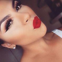 A red lip shouts class!