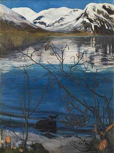 Nikolai Astrup, March Atmosphere at Jølstravatnet, Before 1908, Oil on canvas© Private Collection, Oslo. Photo © Anders Bergersen