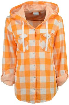 Columbia Women's Tennessee Volunteers Times Two Hooded Long Sleeve Shirt - Sports Fan Shop By Lids - Men - Macy's Hooded Long Sleeve Shirt, Long Sleeve Tops, Long Sleeve Shirts, Sweater Jacket, Rain Jacket, Tennessee Girls, Flannel Tunic, Orange Shirt, Tennessee Volunteers