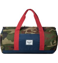 Woodland Camo/Navy/Red Sutton Duffle Bag
