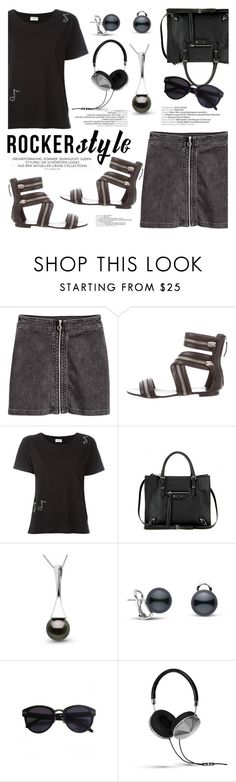 """Rocker Chic!"" by pearlparadise ❤ liked on Polyvore featuring Giuseppe Zanotti, Yves Saint Laurent, Balenciaga, Linda Farrow, Frends, rockerchic, contestentry, rockerstyle, pearljewelry and pearlparadise"