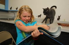 SPCA 'Tale for Two' program lets kids read to animals