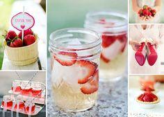 Hochzeit mit Erdbeeren in der Dekoration | Friedatheres