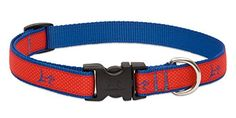 LupinePet Club 34 Derby Red 1322 Adjustable Collar for Medium and Larger Dogs ** More info could be found at the image url.Note:It is affiliate link to Amazon.