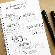 sketch noting is like visual notes to a new level Journal Inspiration, Study Inspiration, Journal Ideas, Machine Learning Deep Learning, Visual Note Taking, Elementary Art Rooms, Doodle Lettering, Brush Lettering, Note Doodles