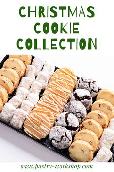 A collection of cookies perfect for the Christmas to come! Pecan Fondants Chocolate Crinkles Lavender Shortbreads Walnut Kipferls