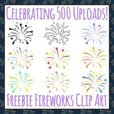 Fireworks Free Clip Art - Celebrating 500 Uploads!
