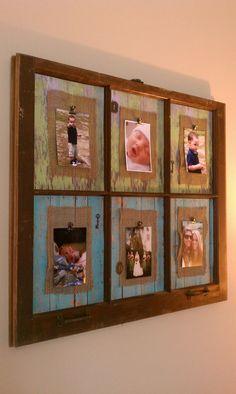 Old window frames, window ideas, window frame decor, window picture fra Window Frame Decor, Old Window Frames, Old Picture Frames, Window Art, Picture On Wood, Window Ideas, Window Panes, Antique Windows, Vintage Windows