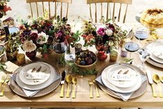 Fall tablescape with Mandy Kellogg Rye of Waiting on Martha
