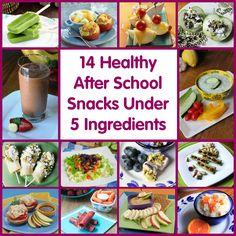 14 Healthy After School Snacks Under 5 Ingredients | Produce For Kids #poweryourlunchbox