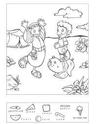 Image result for hidden treasure bible story -related colouring pictures