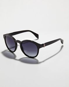 Round Skull Sunglasses by Alexander McQueen at Bergdorf Goodman.