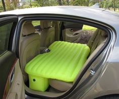 The backseat car bed is an inflatable mattress that you can fit perfectly into the back seat of your car and sleep comfortably instead of sleeping on the small amount of room the back seat of your car...