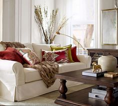 A splendid floor lamp in a beautiful living room.