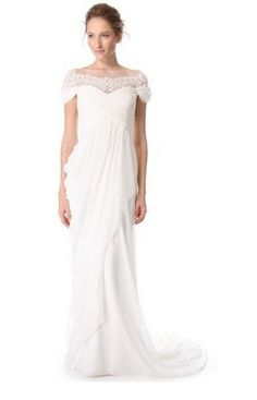 Pin for Later: The Ultimate Guide to Wedding Dresses With Sleeves  Marchesa Grecian Illusion Gown (£3,501)