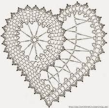Znalezione obrazy dla zapytania serce na szydełku schemat