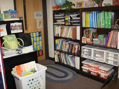 how to organize your supplies if getting rid of teacher desk