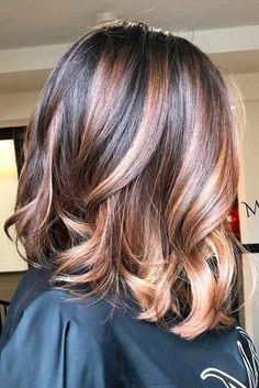 21 Ideas Of Highlights For Dark Brown Hair - Highlights for Dark Brown Hair Color Tiger Eye: 21 Stunning New Ideas ★ See more: lovehairstyles. Highlights For Dark Brown Hair, Hair Highlights, Color Highlights, Ombre Hair Color, Brown Hair Colors, Tiger Eye Hair Color, Angled Bob Haircuts, Angled Lob, Short Haircuts