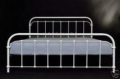 Amita Eisenbett Metallbett Weiß Design Bett Bettgestell 180x200 CM | eBay