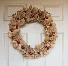 DIY Christmas Wreaths: 9 Charming Burlap Wreaths | AllFreeChristmasCrafts.com