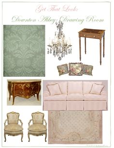 Get the look of the Downton Abbey drawing room