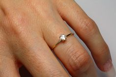 Princess Cut Diamond Engagement Ring - Gold with Princess Cut Diamond Setting